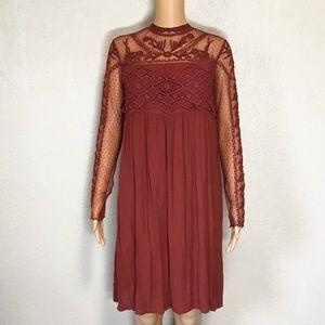 Sundance Lace and Embroidery Gauze Dress